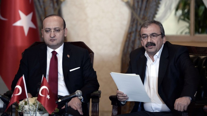 - This handout picture taken and released by the Turkish Prime Minister's press office on February 28, 2015 shows the People's Democratic Party (HDP) representative and HDP's Istanbul MP Sirri Sureyya