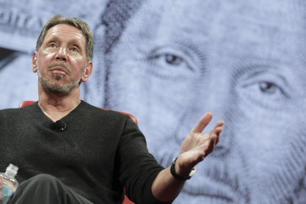Oracle CEO Larry Ellison speaks at the All Things D conference in Rancho Palos Verdes
