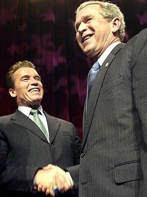 Schwarzenegger und George W. Bush