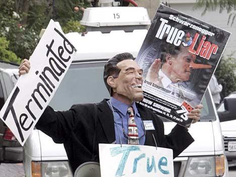 Proteste gegen Schwarzenegger