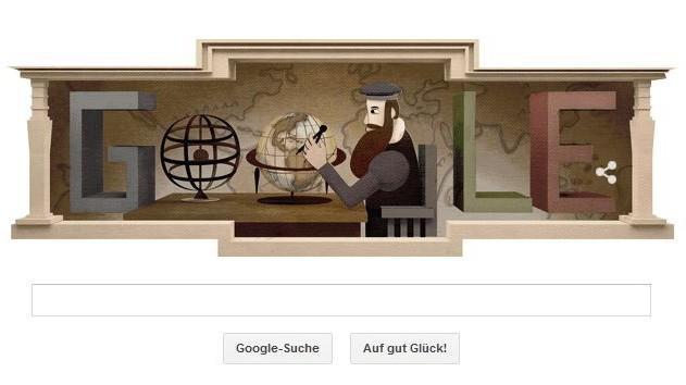 Google Doodle Gerhard Mercator Kartograf 503 Geburtstag