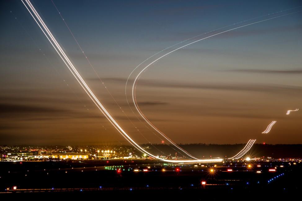 Flugzeuge am Flughafen Stuttgart