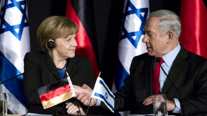 German Chancellor Angela Merkel and cabinet visit Israel