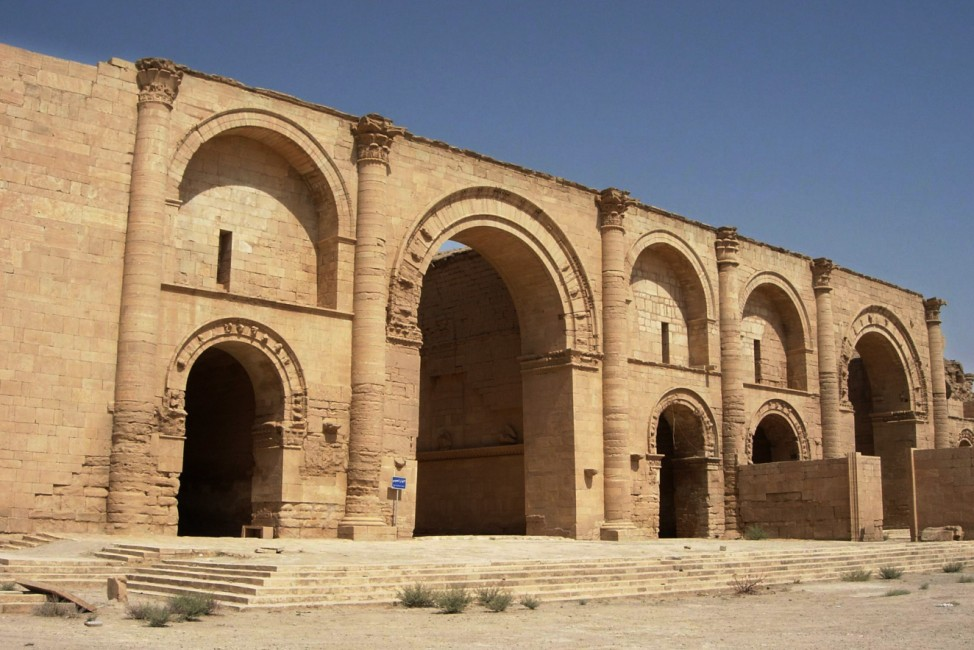 In this file photo taken July 27, 2005, two temples stand over 1,750 years after the Sassanian empire razed the Mesopotamian city of Hatra