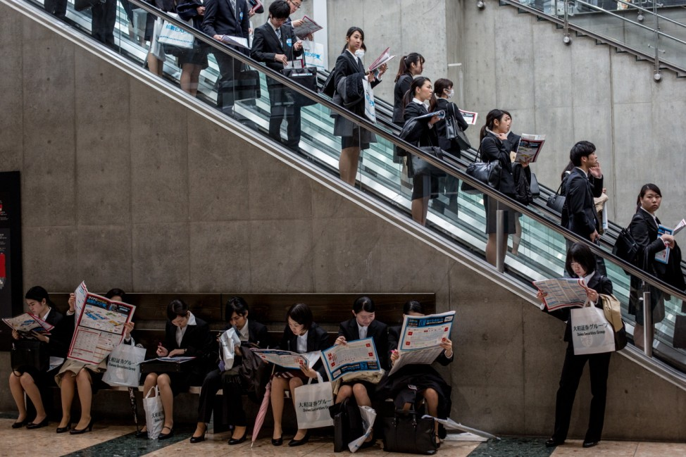 College Students Attend Job Fair In Japan