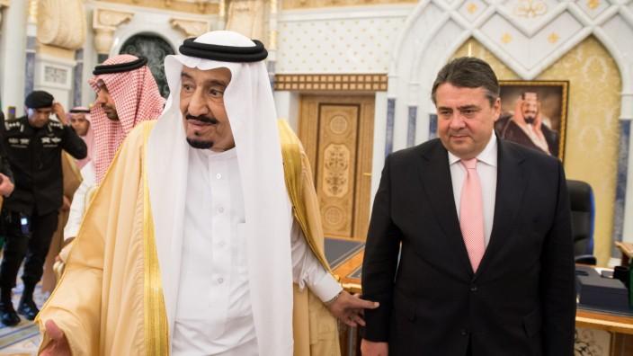 Wirtschaftsminister Gabriel in Riad