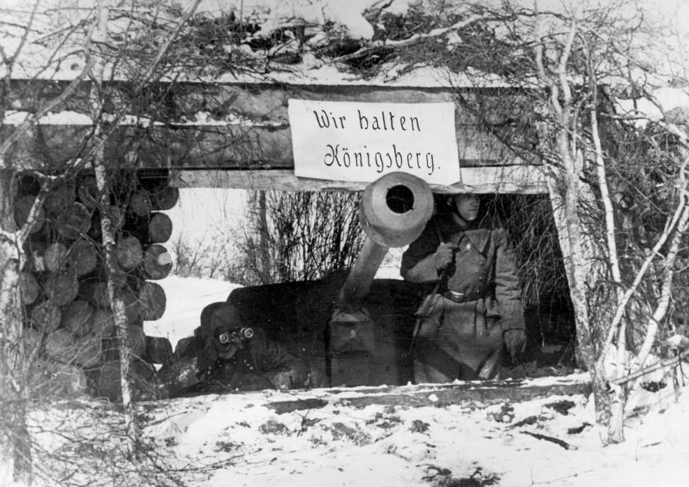 Deutsche Stellung vor Königsberg, 1945