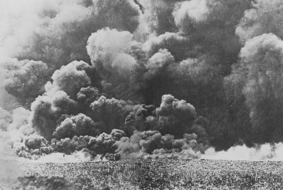 Gasangriff an der Westfront, 1917