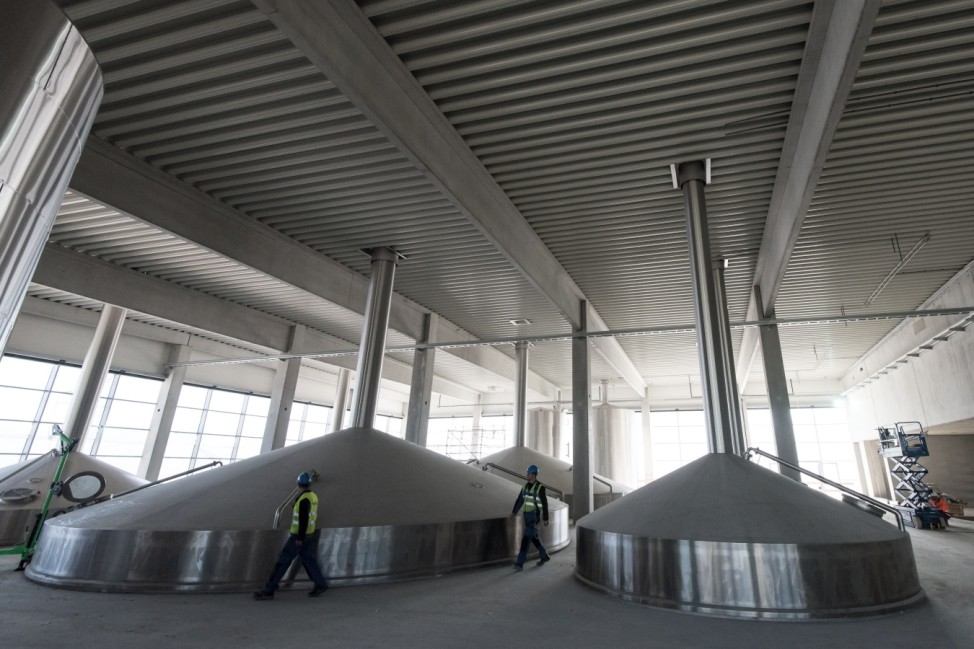 Bauarbeiten Paulaner Brauerei