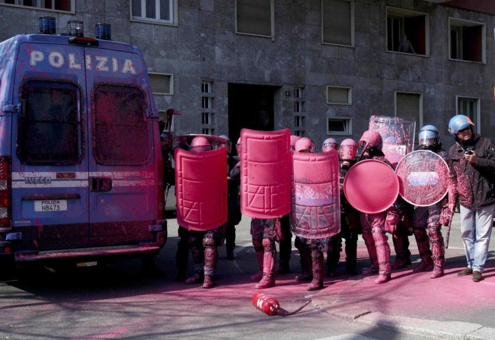Italian students protest government education reform