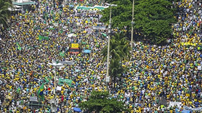 Protest against Brazilian President Dilma Rousseff