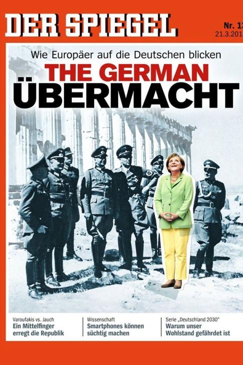 Merkel Spiegel Cover Nazi