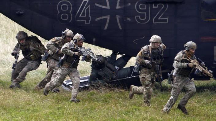 Bundeswehr: Training des Sonderkommandos KSK in der Nähe von Stuttgart