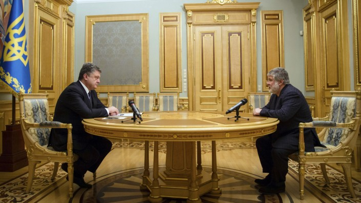 Ihor Kolomoysky, Petro Poroshenko