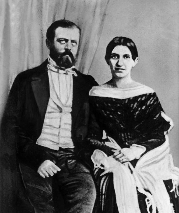 Otto von Bismarck und seine Frau Johanna, 1849