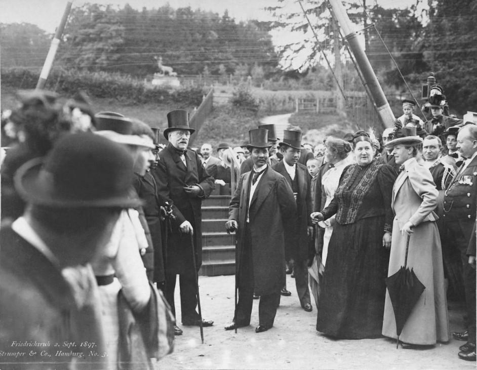 Otto von Bismarck empfängt König Chulalongkorn von Siam in Friedrichsruh, 1897