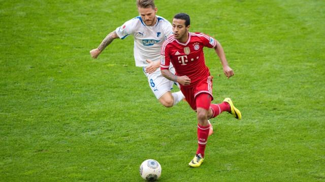 29 März 2014 München Allianz Arena Fussball 1 Bundesliga 28 Spieltag FC Bayern München TSG; Thiago