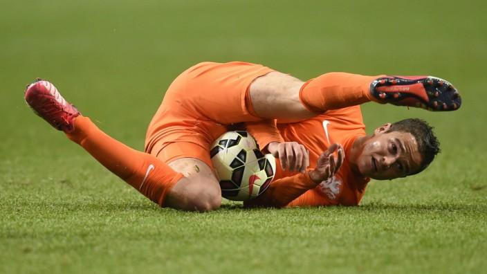 Der niederländische Stürmer Ibrahim Afellay im Spiel gegen die Türkei.