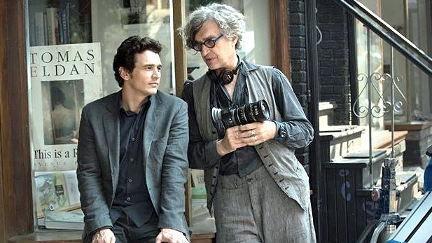 "James Franco (links) und Wim Wenders am Set von ""Every Thing Will Be Fine""."