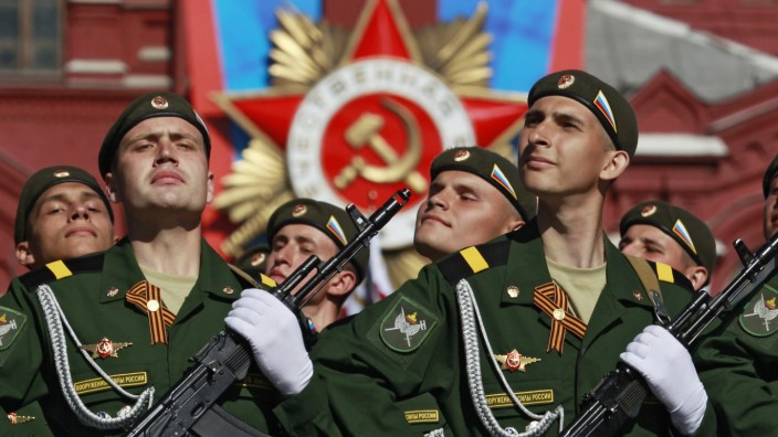 Military parade marking anniversary of victory over Nazi Germany