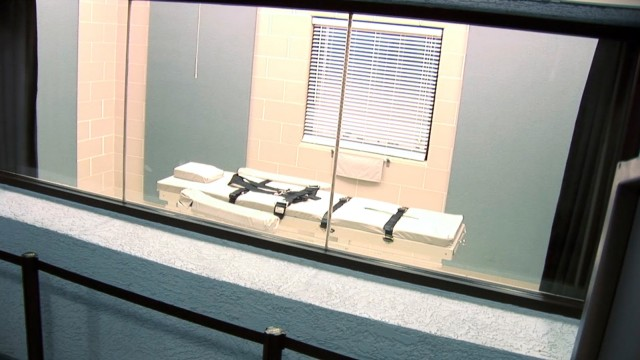 Screen grab of the execution chamber at the Arizona State Prison Complex in Florence