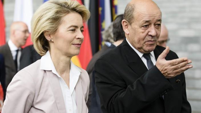 Ursula von der Leyen und Jean-Yves Le Drian