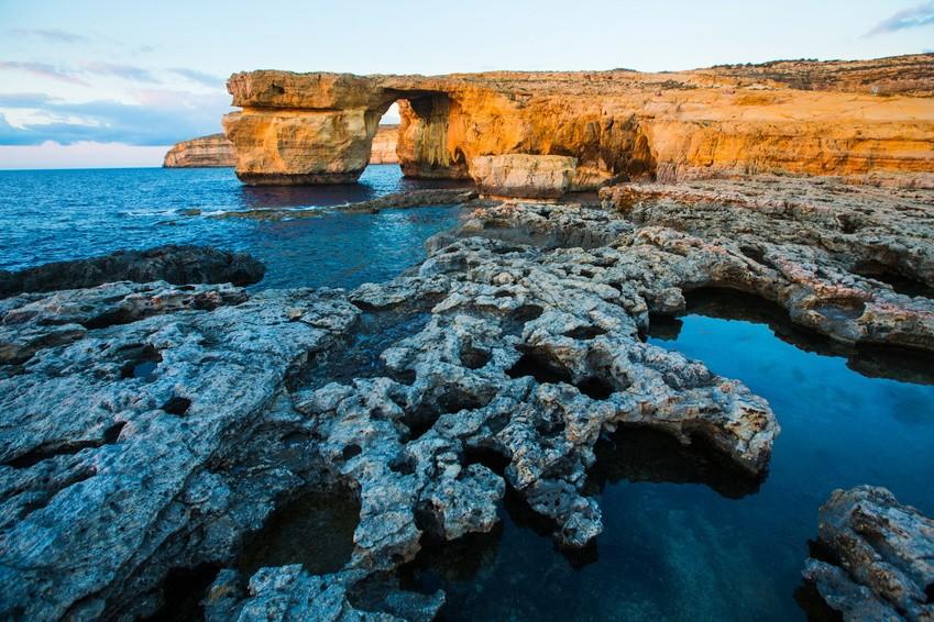 """Azure Window, Malta, """"Game of Thrones"""" - Drehort"""