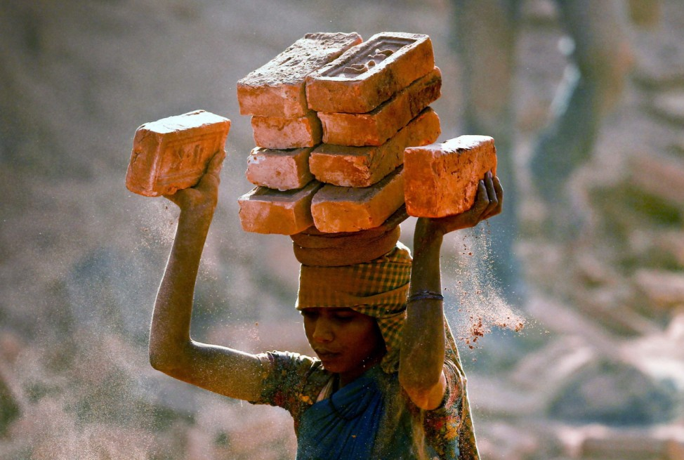 Brick factory in Nepal