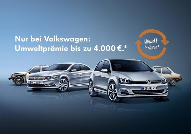 Volkswagen bringt Umweltprämie zurück