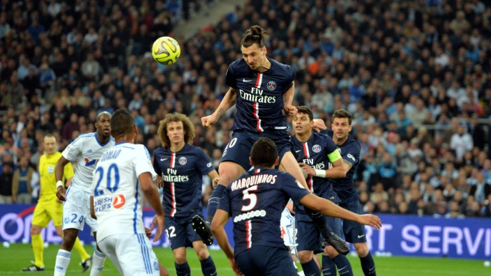 Zlatan Ibrahimovic psg FOOTBALL Marseille vs Paris SG Ligue 1 05 04 2015 AnthonyBIBARD FEP P