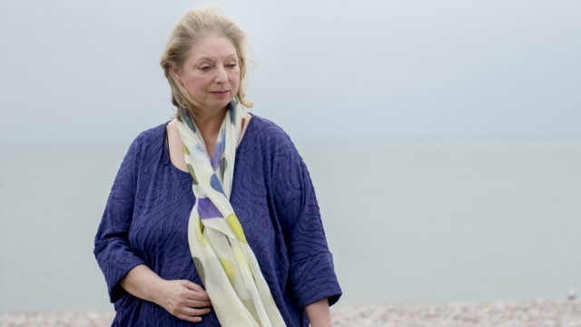 """Hilary Mantel, who is working on a third novel in the """"Wolf Hall"""" series, in Budleigh Salterton, England."""