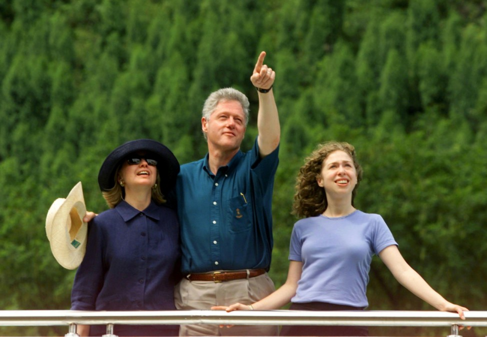 Familie Clinton in China