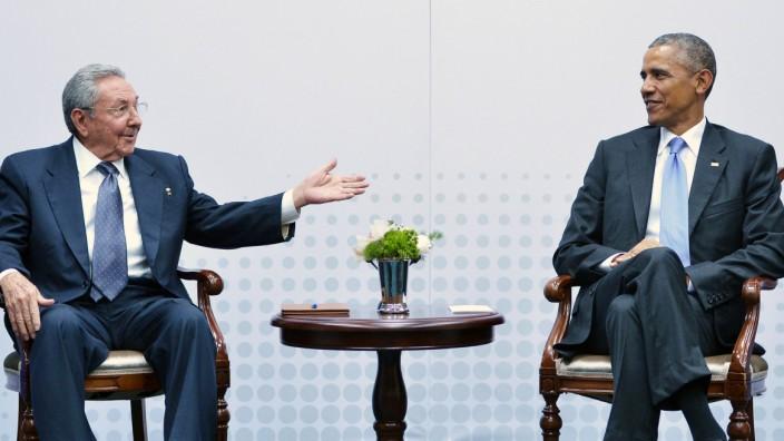 Kubas Staatschef Raul Castro und Us-Präsident Barack Obama