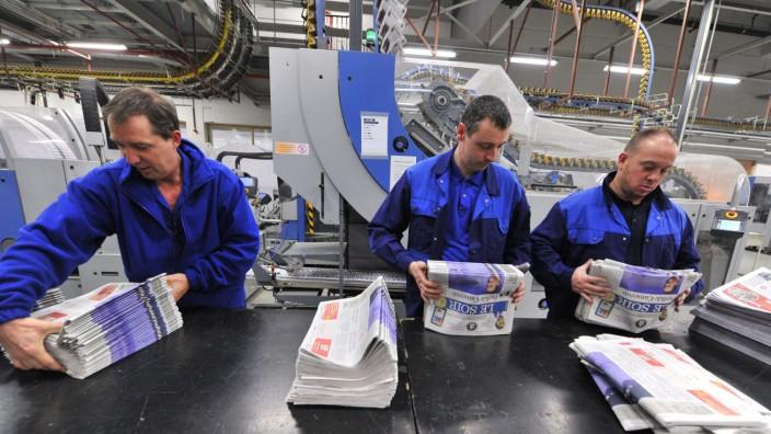 Website lahmgelegt: Print-Ausgabe von Le Soir. Auf die Website der belgischen Zeitung haben Hacker einen Angriff verübt.