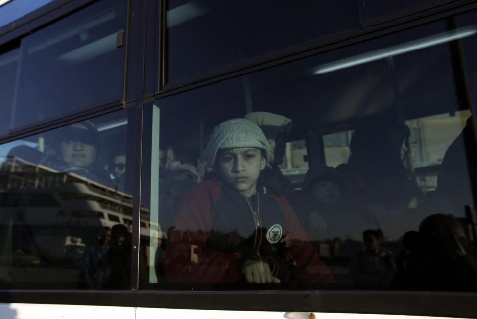 Undocumented migrants arrive in Greece