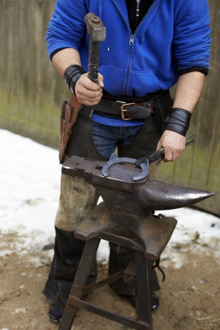 Germany Blacksmith at work model released property released PUBLICATIONxINxGERxSUIxAUTxHUNxONLY TK0