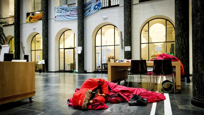 Students of the University of Amsterdam occupy the university's