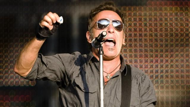 U.S. singer Bruce Springsteen performs during a concert in Bern
