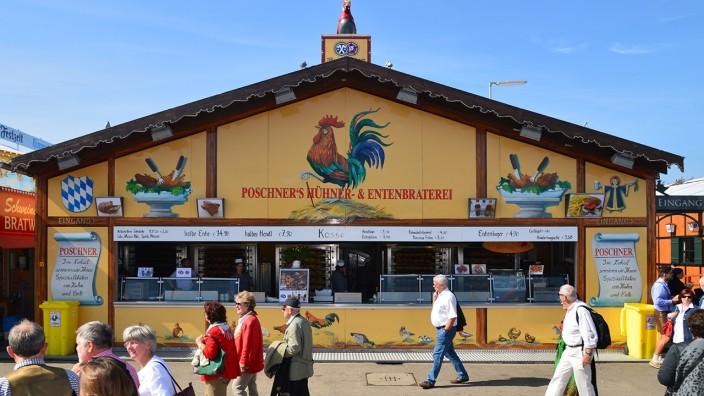 Oktoberfest 2015: Aus is und gar is: Die Hühnerbraterei Poschner mit ihren 350 Plätzen war mehr als 80 Jahre lang auf dem Oktoberfest vertreten.