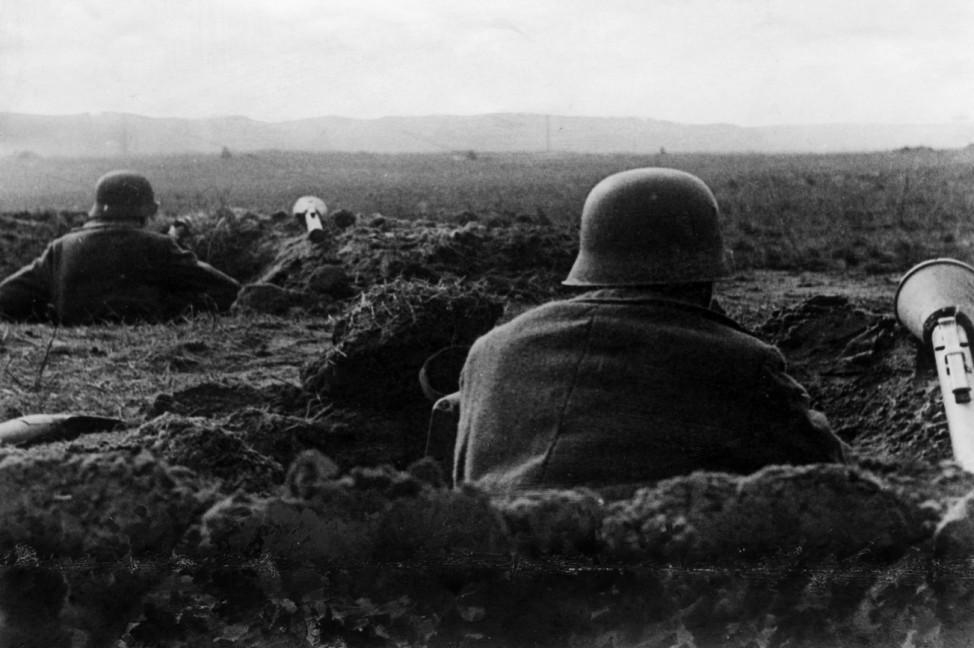 Deutsche Stellung an der Oderfront nahe K¸strin, 1945; Ostfront WW2