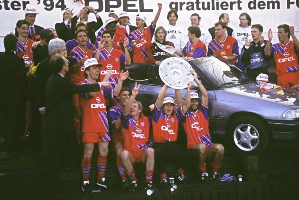 Fussball: 1. Bundesliga 93/94; Bayern-Meister