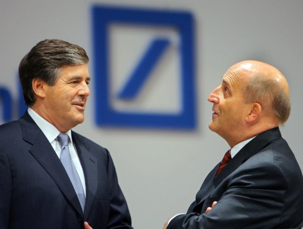 Hauptversammlung Deutsche Bank - Ackermann und von Heydebreck