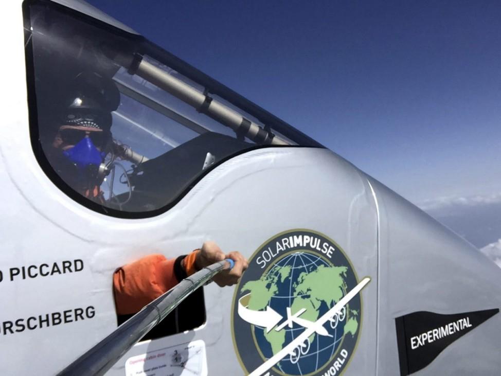 Solar Impulse flies over China