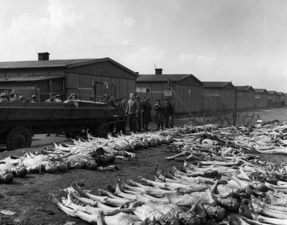 Konzentrationslager Dachau nach der Befreiung, 1945