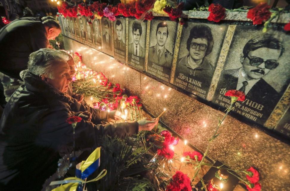 Ukrainians mark the 29th anniversary of Chernobyls tragedy