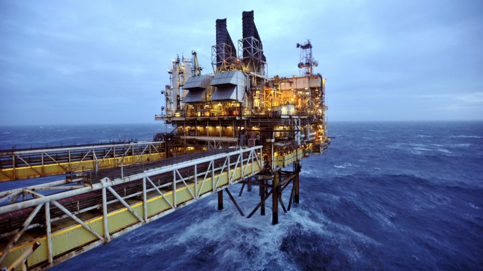 File photo of a section of the BP Eastern Trough Area Project oil platform as seen in the North Sea, around 100 miles east of Aberdeen