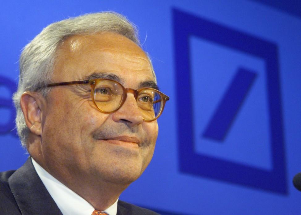 DEUTSCHE BANK CEO ROLF BREUER ADDRESSES NEWS CONFERENCE IN PRAGUE