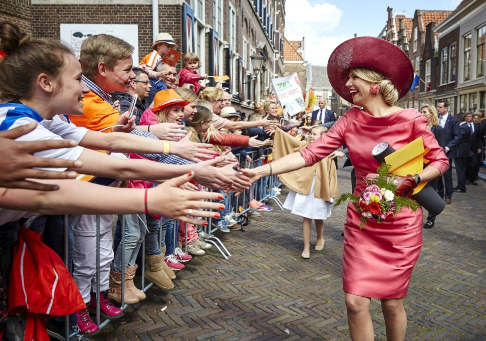 Queen Maxima of the Netherlands takes part in the King's Day in Dordrecht