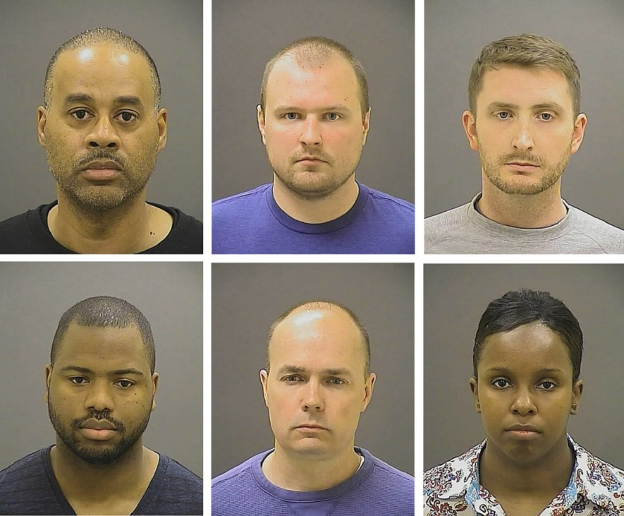 Police officers charged in Baltimore