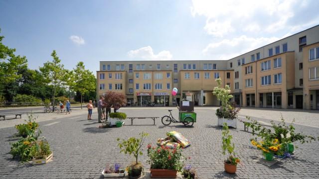 Serie: Auf die Plätze! Folge 7: Blick über den Walter-Sedlmayr-Platz.
